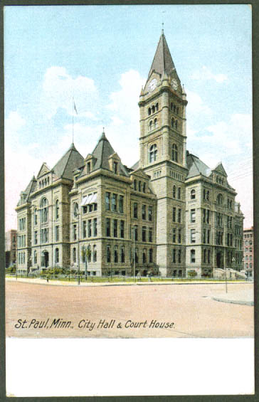 City Hall Courthouse St Paul MN postcard 1910s