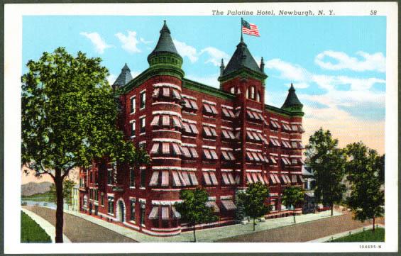 Palatine Hotel Newburgh NY postcard 1920s
