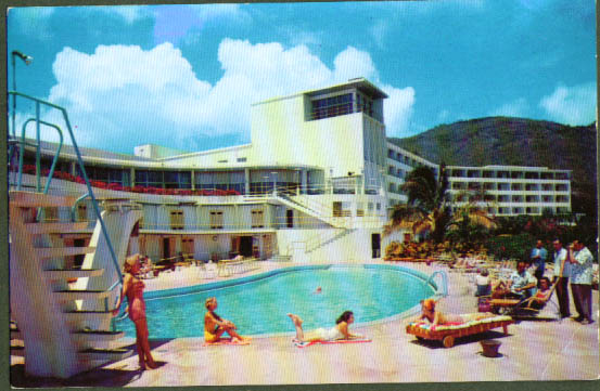Virgin Isle Hotel St Thomas VI postcard 1950s