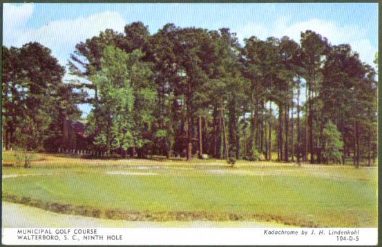 Golf Course 9th Hole Walterboro SC postcard