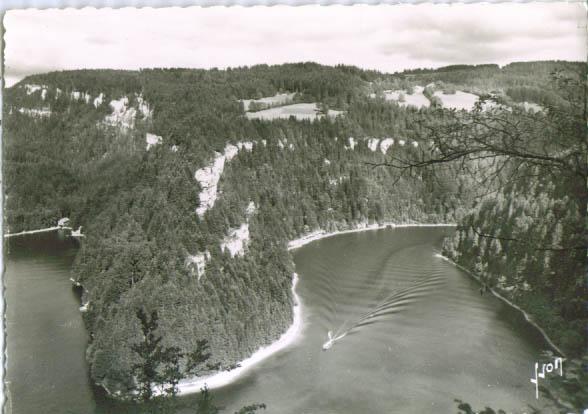 Lac Villiers Boucle Doubs RPPC postcard 1940s #1511
