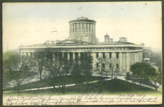 State Capitol Columbus OH undivided back postcard 1907