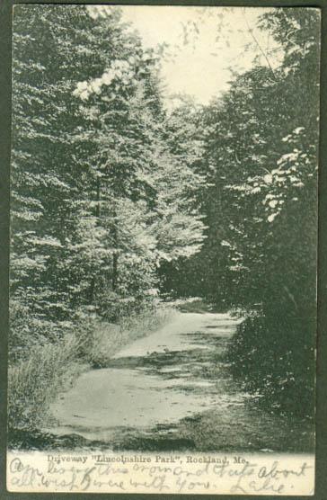 Lincolnshire Park Rockland ME undivided back postcard 1906
