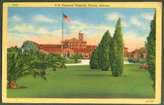 Veterans Hospital Tucson AZ postcard 1950