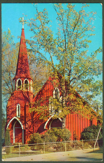 St James Episcopal Sonora CA postcard 1950s