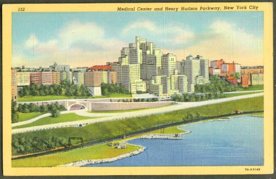 Henry Hudson Parkway New York City postcard