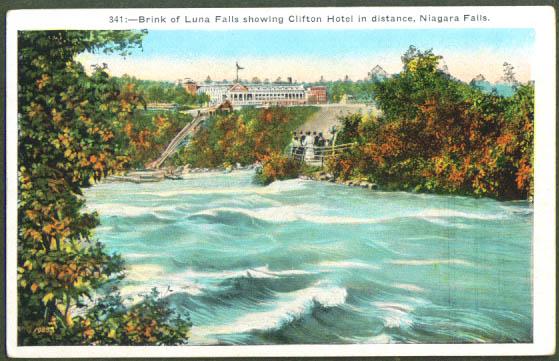 Luna Falls Clifton Hotel NY postcard 1920s