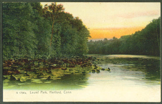 Laurel Park Hartford CT undivided back postcard 1900s