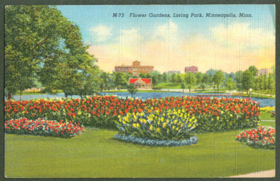 Garden Loring Park Minneapolis MN postcard