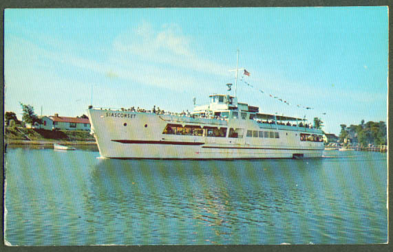 S S Siasconset Hyannis MA postcard 1950s
