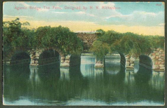 Agassiz Bridge The Fens Boston postcard 1913