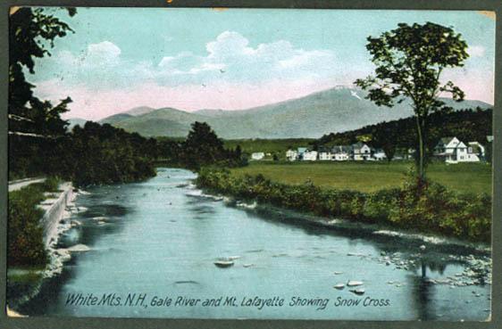 Gale River Mt Lafayette NH postcard 1909
