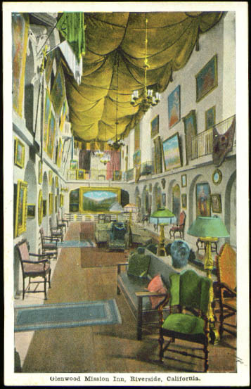 Gallery Glenwood Mission Inn Riverside CA postcard