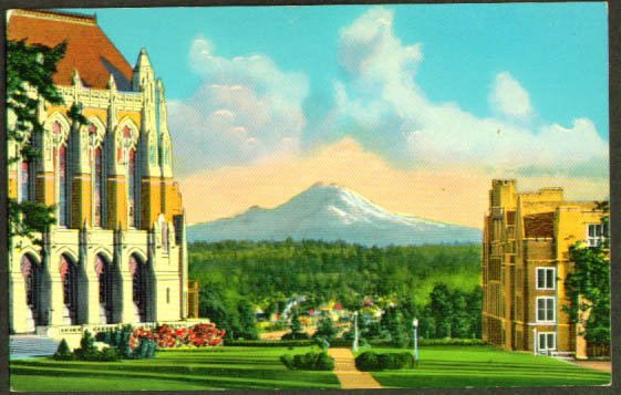 Library University WA Seattle postcard 1950s