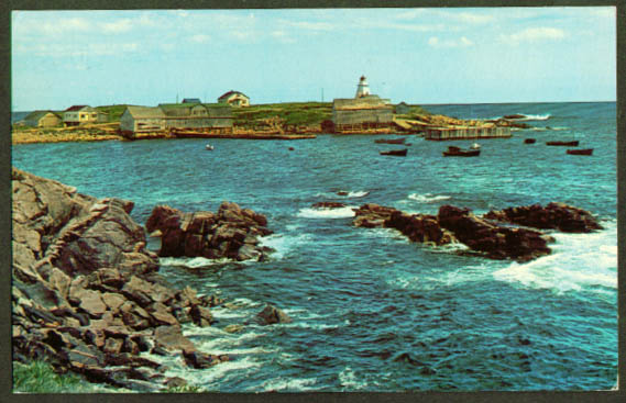 Neil's Harbor Cape Breton NS postcard 1970s