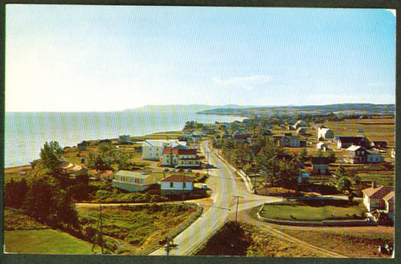 St Charles de Caplan Quebec postcard 1950s