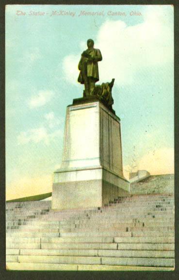 McKinley Memorial Canton OH postcard 1914