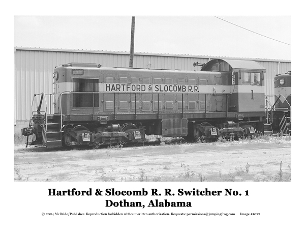 Image for Hartford & Slocum RR Diesel Switcher #1 8x10 photo