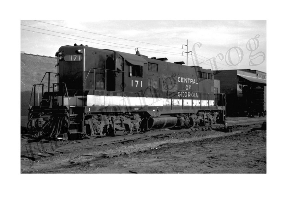Image for Central of Georgia diesel locomotive #171 5x7