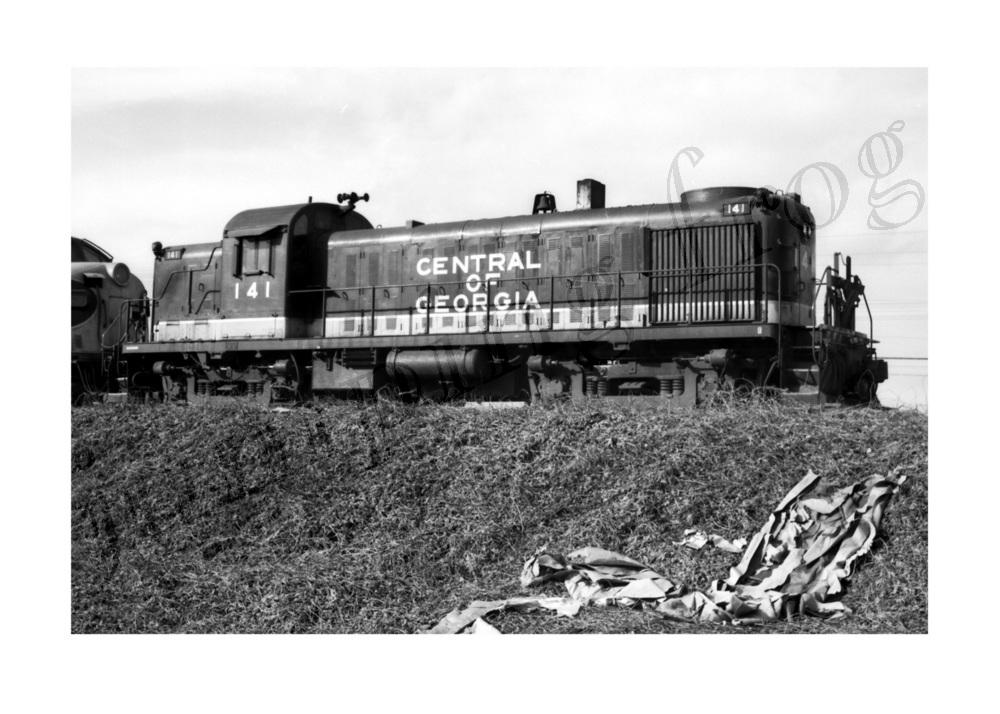 Central of Georgia diesel locomotive #141 5x7