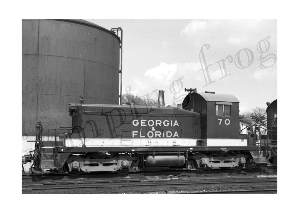 Georgia & Florida RR diesel locomotive #70 5x7 #1