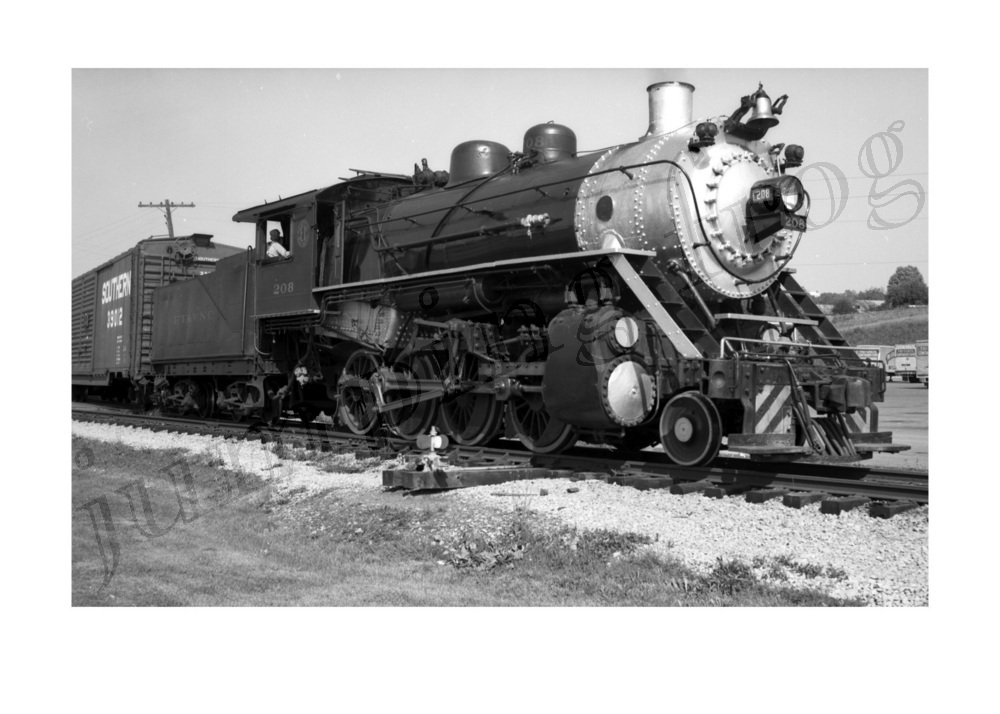 Image for Southern 2-8-0 steam locomotive #208 5x7