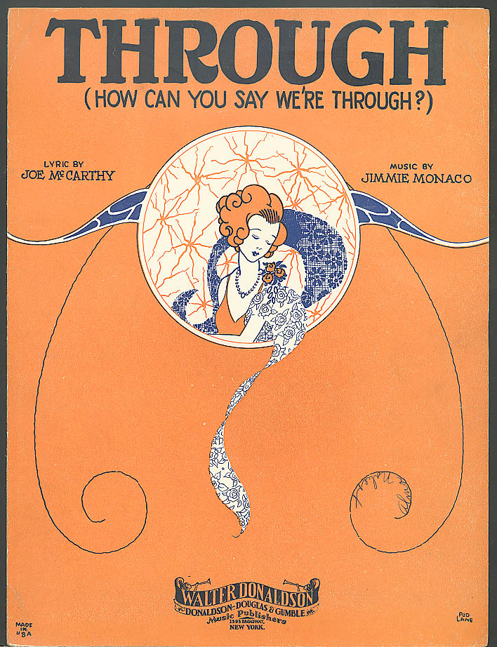 Through How Can You Say We're Through sheet music 1929