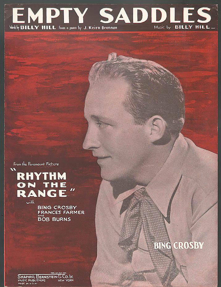 Empty Saddles Bing Crosby movie sheet music 1936