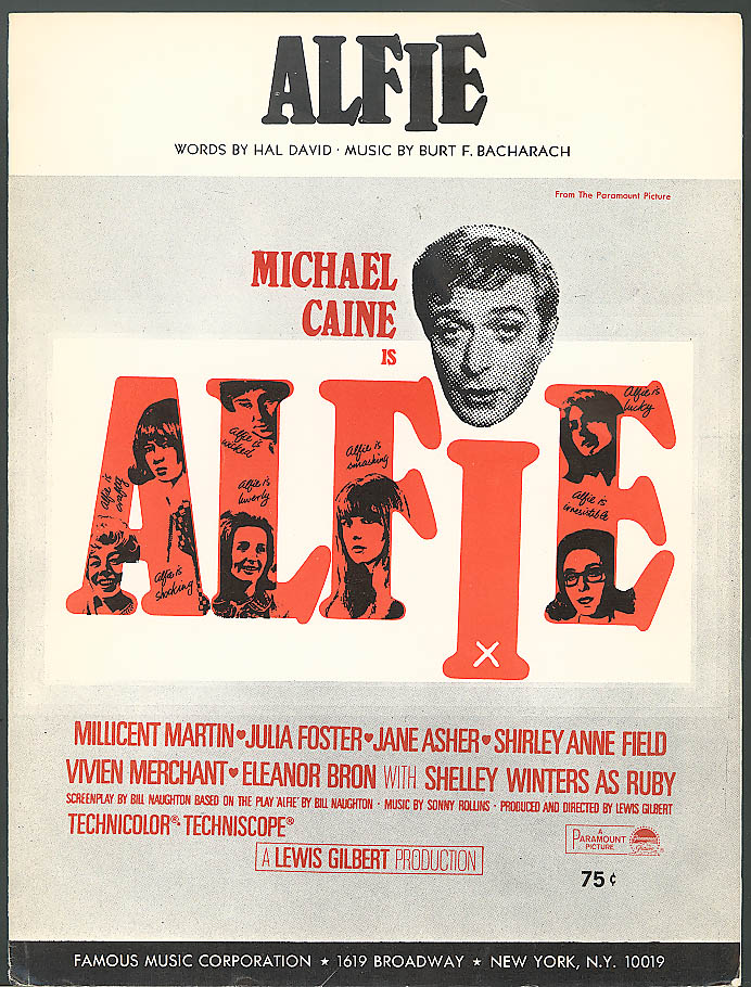 Alfie Bacharach & David Michael Caine movie music 1966