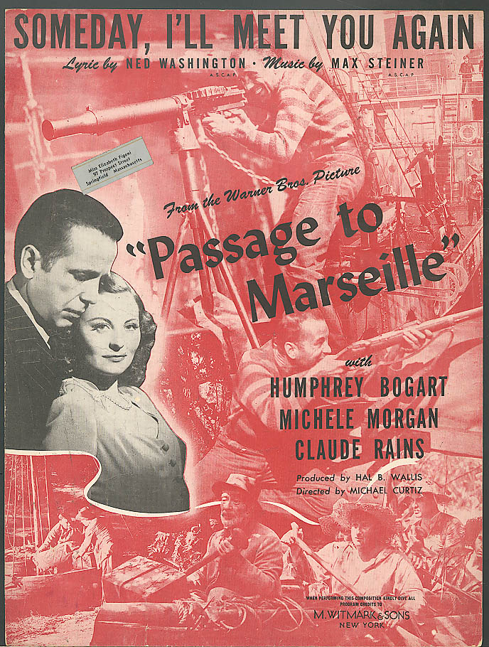 Someday I'll Meet You Again Bogart movie music 1944
