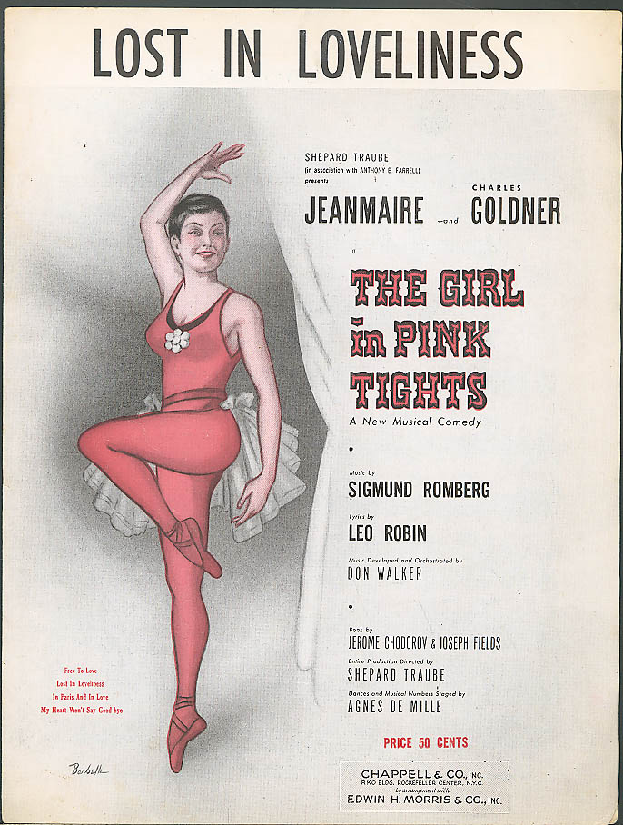 Lost in Loneliness Jeanmarie movie sheet music 1954