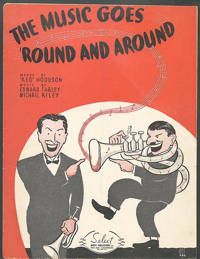 The Music Goes Round and Around sheet music 1935