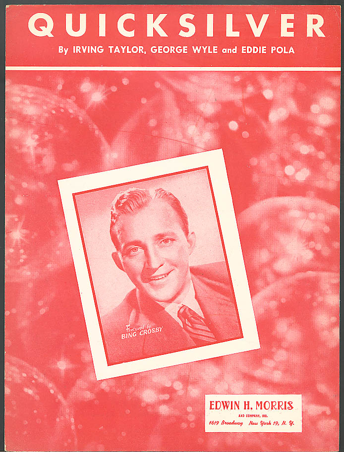 Quicksilver Big Crosby sheet music 1939
