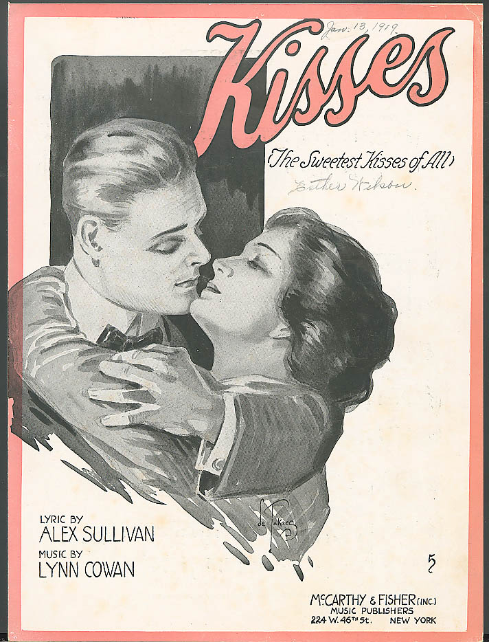 Kisses Sweetest Kisses of All sheet music 1918