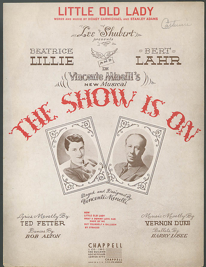 Little Old Lady Beatrice Lillie The Show is On sheet music 1936