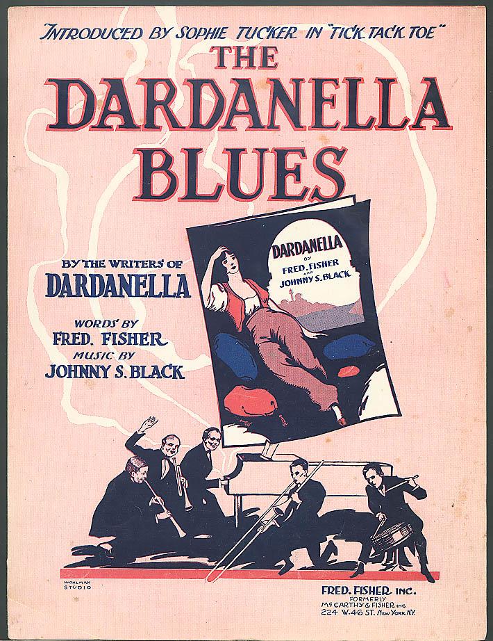 Dardanella Blues Sophie Tucker sheet music 1920