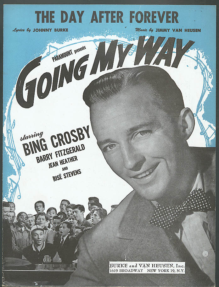 The Day After Forever Bing Crosby movie sheet music 1944