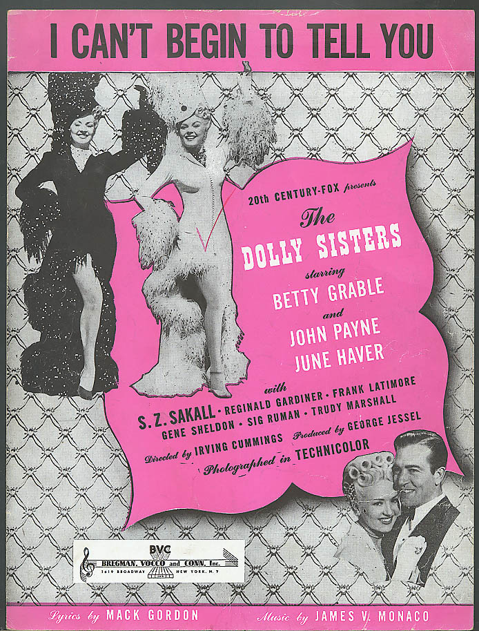 I Can't Begin to Tell You Betty Grable movie music 1945