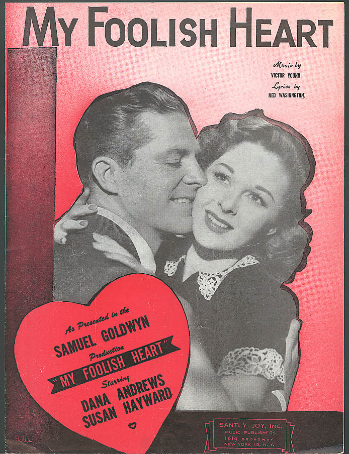 My Foolish Heart movie sheet music 1949