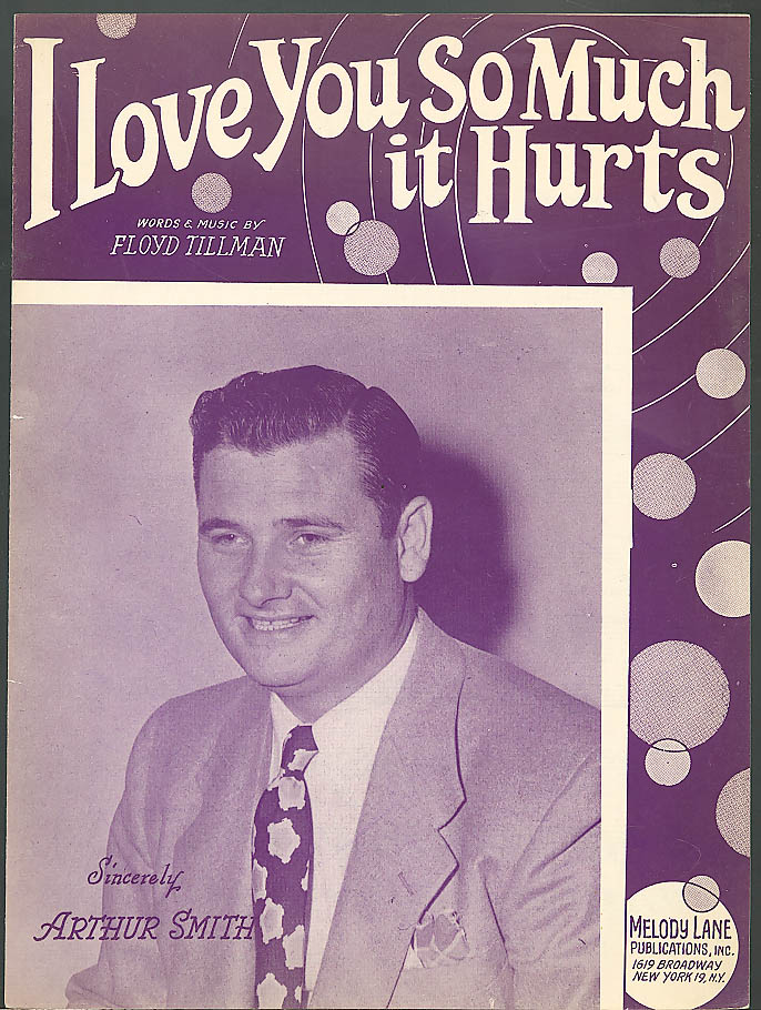 I Love You So Much It Hurts sheet music 1948