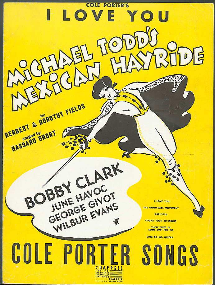 I Love You Cole Porter Mexican Hayride sheet music 1943