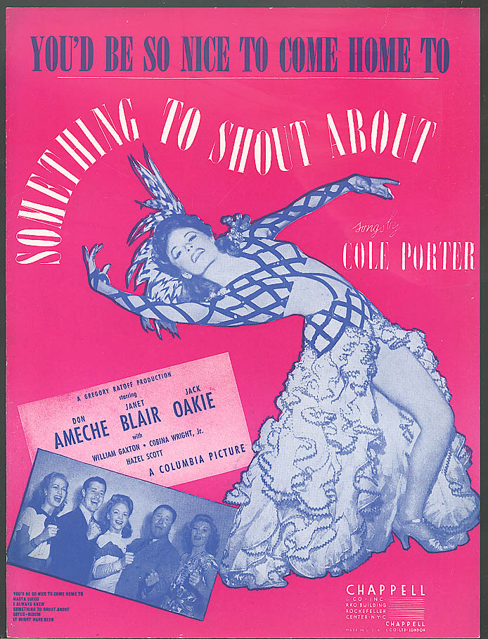 You'd Be So Nice To Come Home To movie sheet music 1942 Cole Porter