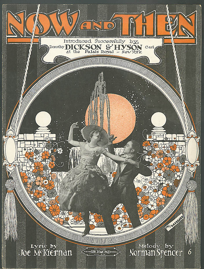 Now and Then Dickson & Hyson sheet music 1920