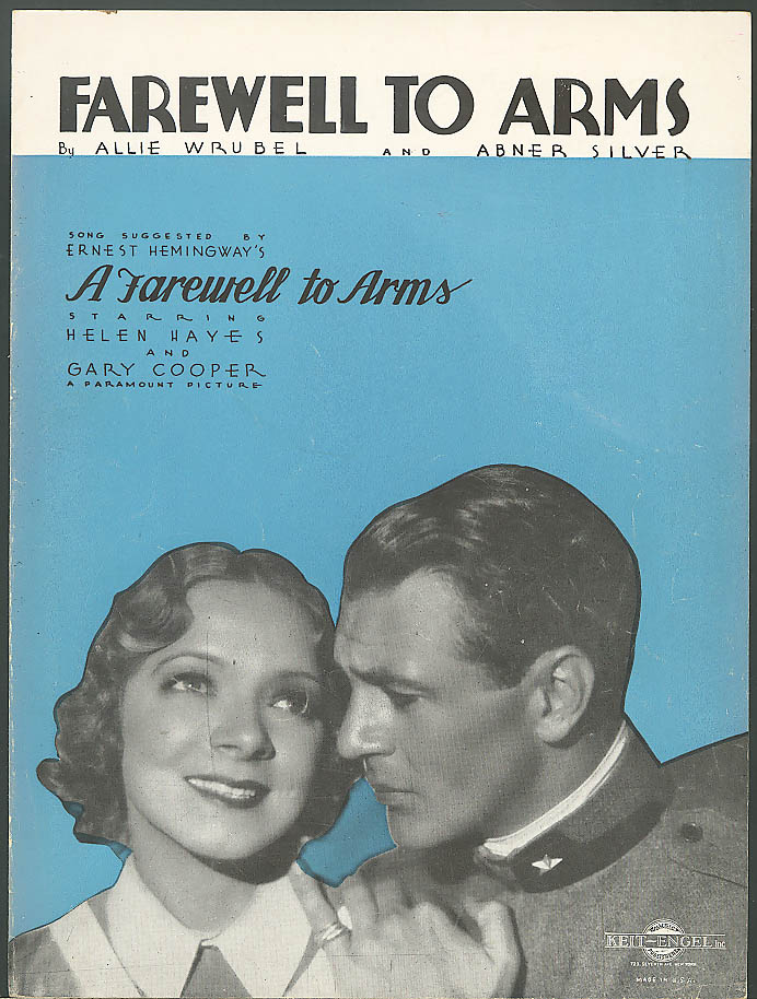 Farewell to Arms Helen Hayes Gary Cooper movie music