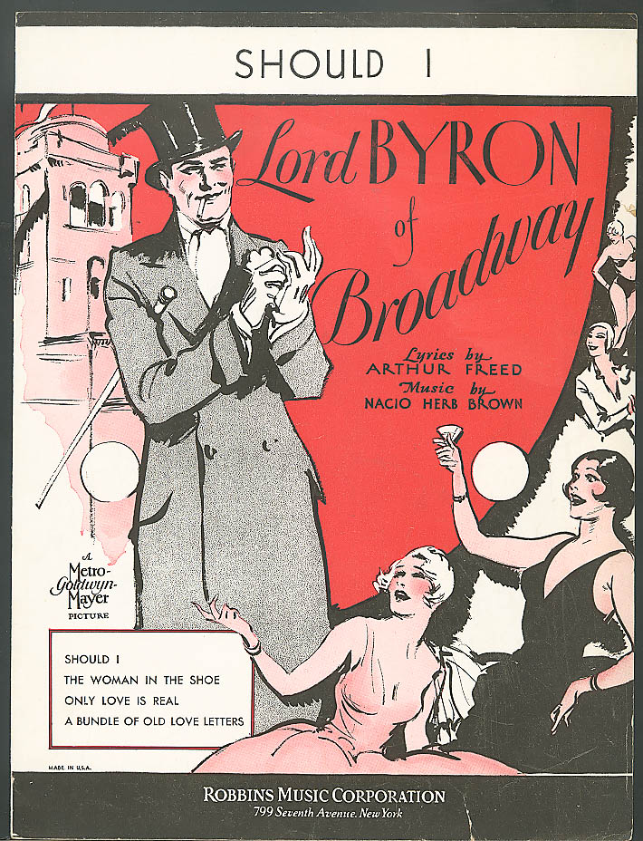 Should I Lord Byron of Broadway movie music 1929