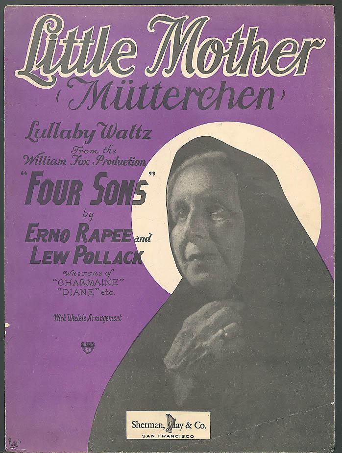 Little Mother Mutterchen movie sheet music 1928