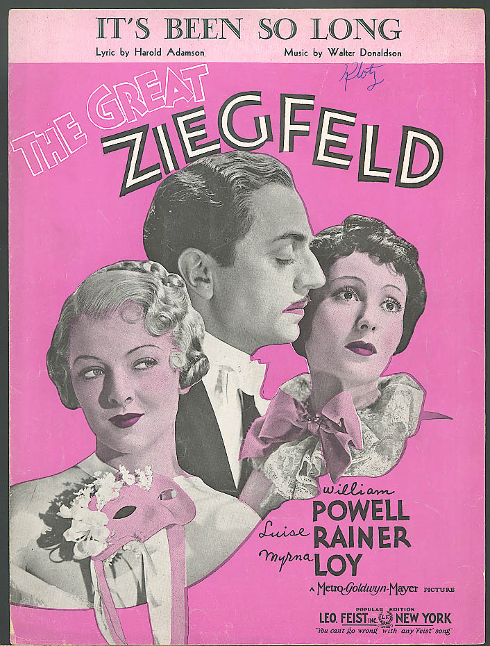 It's Been So Long - Great Ziegfeld movie music 1935