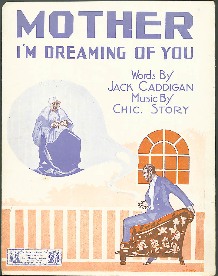 Mother I'm Dreaming of You sheet music 1918