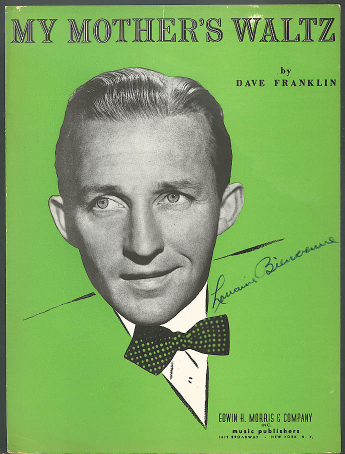 My Mother's Waltz Bing Crosby sheet music 1945