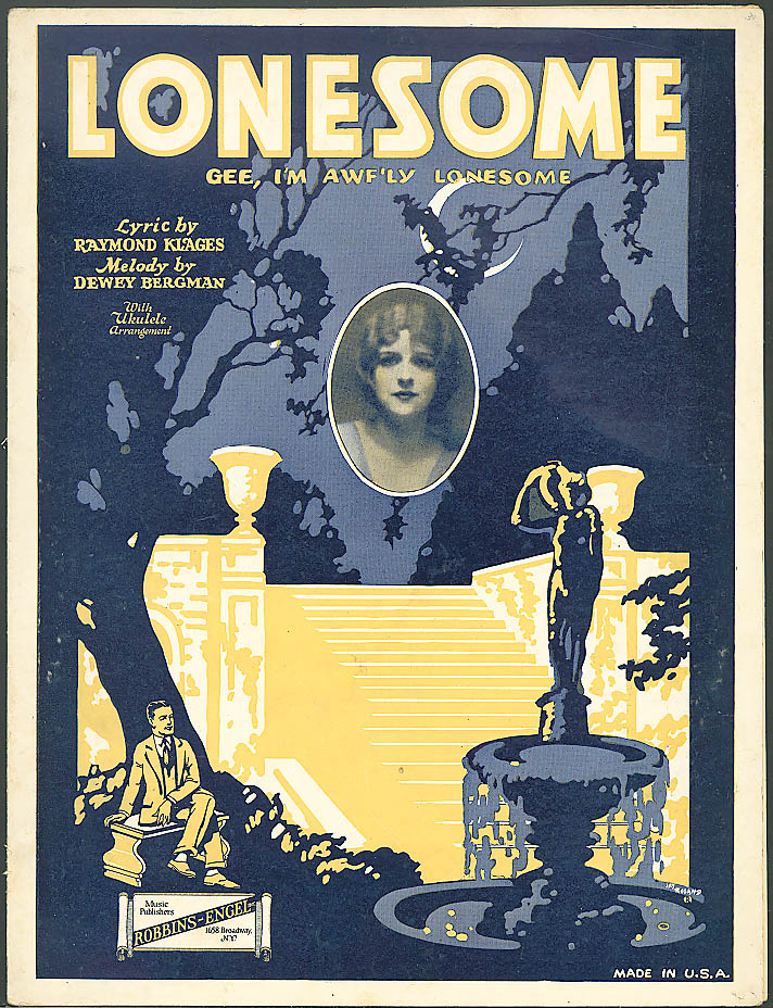 Gee I'm Awf'ly Lonesome sheet music 1925